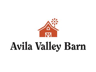 Avila Valley Barn Logo identity brand wordmark mark design logo