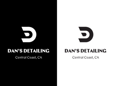 Dan's Detailing Identity wordmark typeface logo branding identity