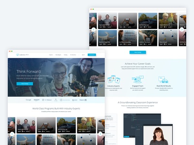 Udacity Homepage ui ux web design design web homepage learning udacity
