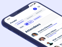 Attendee filters app event app event mobile speakers sponsors people list attendee filter