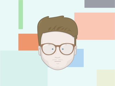 01 Routines  character avatar pastel glasses vector illustration
