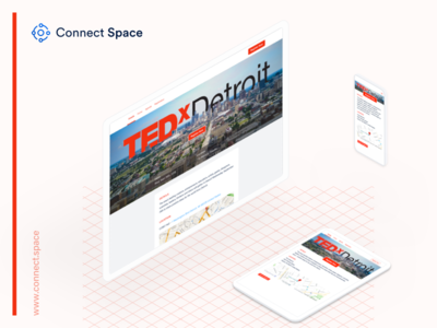 Excited about the work we did for TEDxDetroit grid desktop tablet phone isometric screens eventprofs tedx