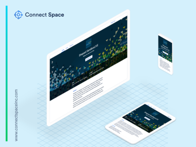 Shepard design work using Connect Space website space registration minimal page landing grid event connect clean branding