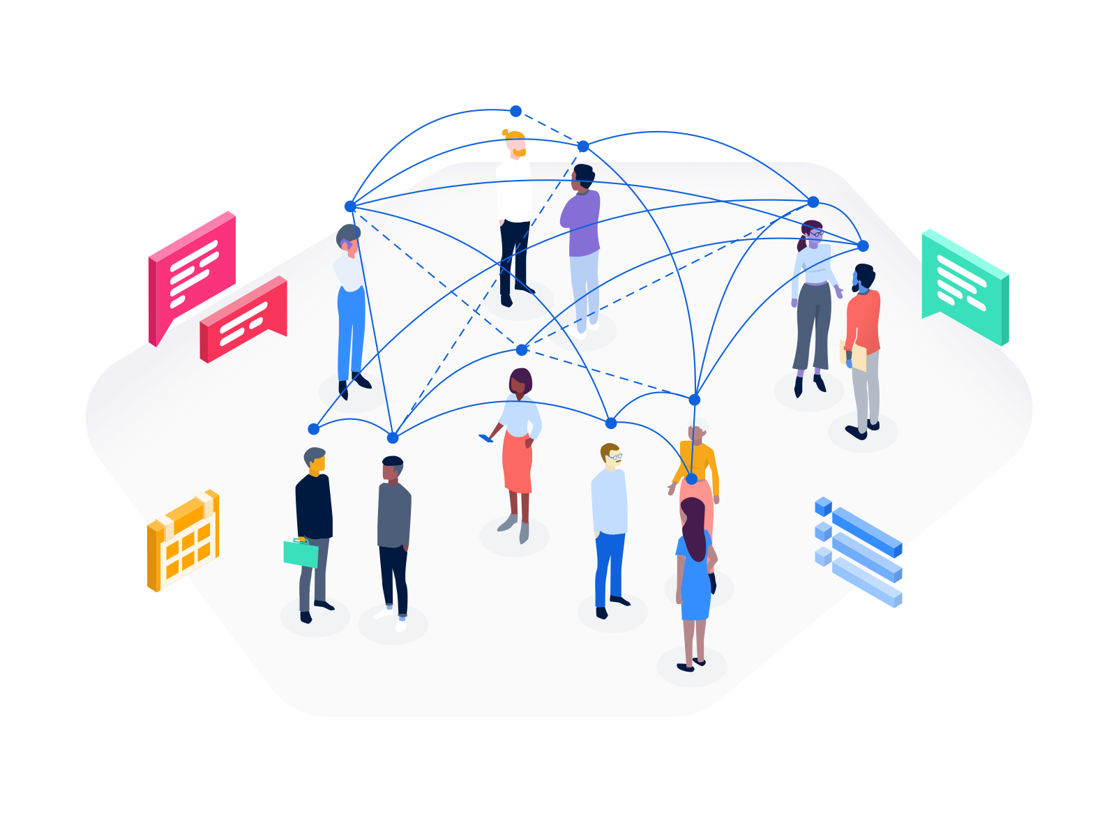 "Illustration — ""Events & Connections"" by August Schippert on Dribbble"