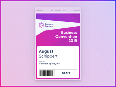 Event Badge Challenge flat skeumorphism skeumorphic illustration clean brand product badge event space connect