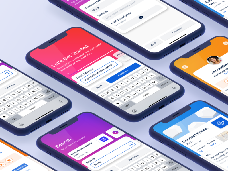 Mobile Sign up — Company & Account confirm add space connect minimal clean sign in sign signup account creation profile user account company