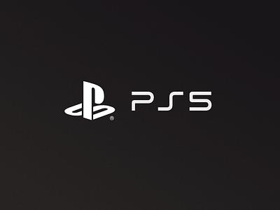 PS5 playoff game gaming brand logo branding minimal clean