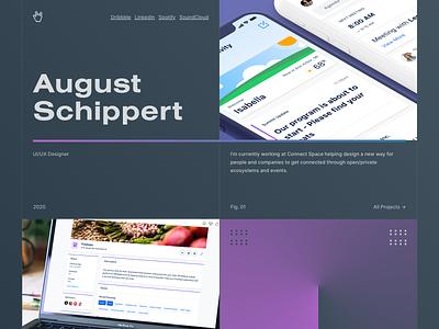 Website Exploration — 01 2020 grid layout explore brand icon gradient colorful portfolio website personal clean minimal