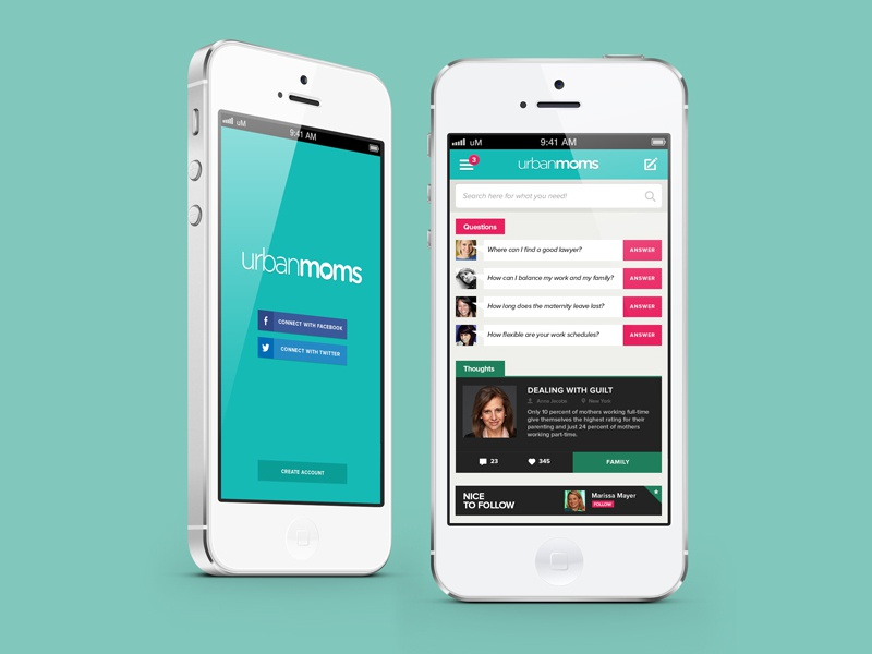 Urbanmoms App app mobile device iphone 5 iphone urban moms aplicativo interface ui ux