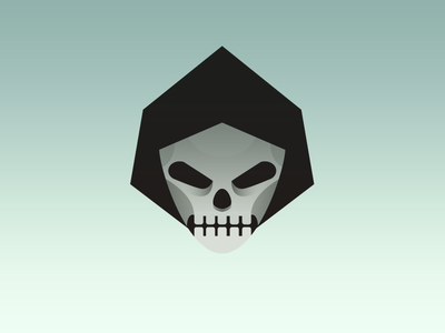 Death tarot gradient reaper death