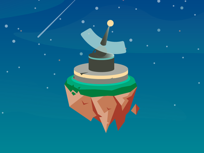 Signal Tower game art illustration gradient