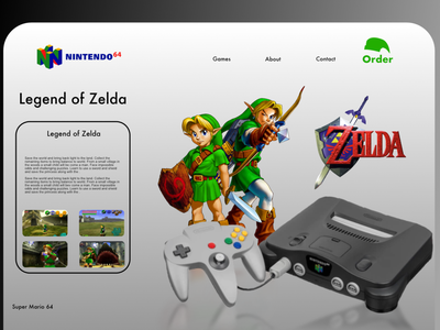 What If Nintendo 64 had a landing pages ux ui mario nintendo64 nintendo vintage landing page zelda n64