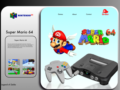 What If N64 did a landing page? Mario edition supermario super mario website web page landing pages landing page nintendo64 mario 64 nintendo