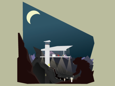 The Hermit Cabin in the valley of sleeping giants