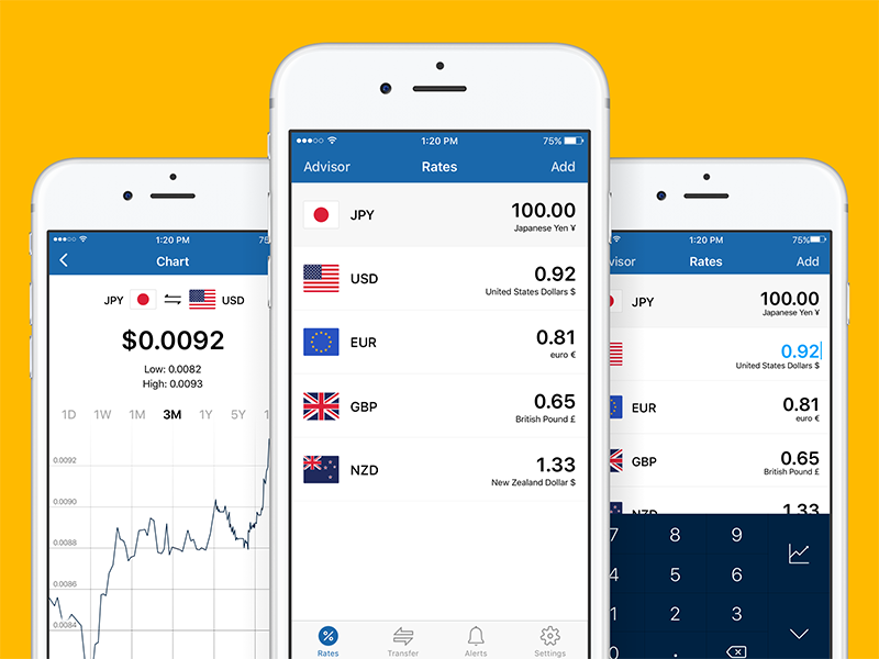 XE Currency Redesign xe ux user interface user experience ui redesign currency app
