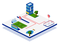 Isometric Downtown & Sporting Venues