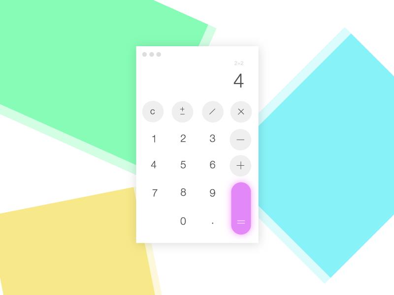 Calculator design calculator ui004 004 dailyui