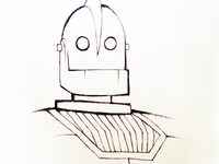 Inktober '18 #23: Iron Giant