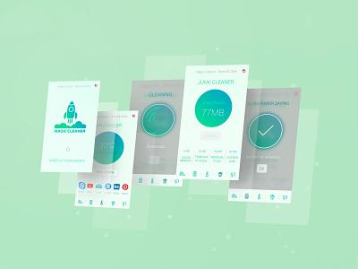 Cleaning app design google play store google play logodesign logo saving power saving charge booster charge check battery cleaning cleaner cleaner app adobe xd figma ux ui app design app design