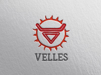 Logo velles mockup dribbble mall marketplace shop illustration logo design sun bull veles deity velles design logo