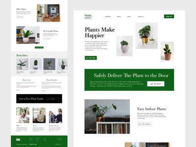Website Plant Shop ui vibes privacy benefits cactus delivery service safely review free store discount intensive bestseller happy shop delivery plant figma design