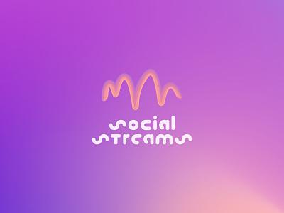 Logo Social Streams illustration figma vector web logo website web design branding logo graphic design