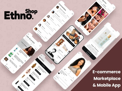 Ethnoshop | The online e-commerce marketplace ui icon branding 3d logo vector illustration graphic design design animation