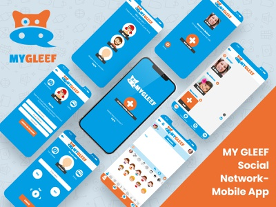 MY  GLFEF SOCIAL NETWORK - MOBILE APP mobile logo logo design illustration design motion graphics mobileappdesign graphic design website illustrator flat trending task management web app animation material ui design typography creative branding