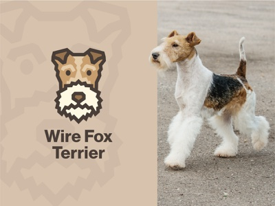 Wire Fox Terrier Dog Logo lineart simple design dog art wire fox terrier animal logo dog
