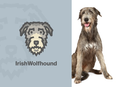 Irish Wolfhound Dog Logo k9 logo design fido animal vector dog icon illustration cute simple clean interface simple dog logo dog