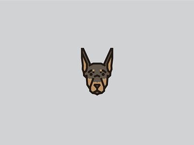 Doberman doberman doberman pinscher logo k9 breeds animal art face dog illustration cute dog icon pet puppy dog fido animal