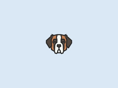 Saint Bernard branding design vector illustration animal art logo breeds k9 face dog illustration dog icon cute puppy pet fido dog animal saint bernard