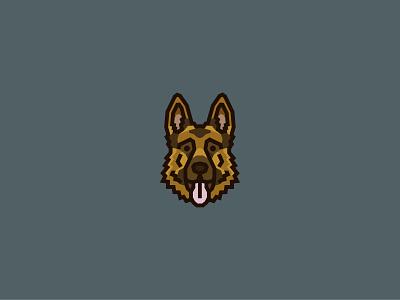 German Shepherd Dog Logo design hound vector dog logo illustration animal art logo breeds k9 face dog illustration dog icon cute puppy pet fido dog animal gsd german shepherd