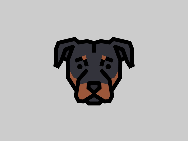 Rottweiler guard dog canine puppy logo dog rottweiler