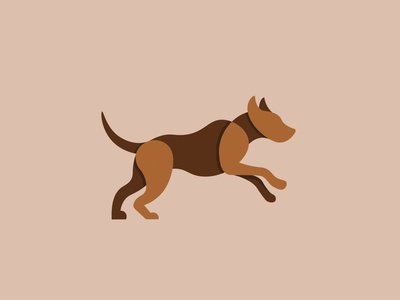 Running Dog design animal branding vector illustration logo dog