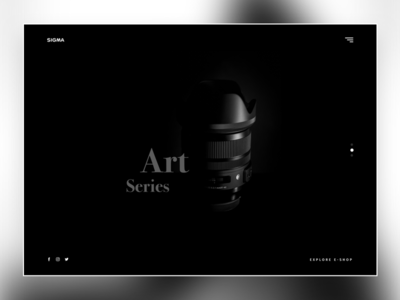Daily UI 003 - Landing Page elegance white black minimal clean simple photo sigma lens website