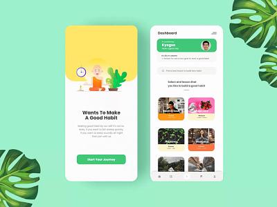 Habit & Mood Tracker Apps - Mobile UI Design design vector typography design agecny habit tracking mobile app ui uiux mood tracker analytics chart progress habit app habits branditosh app icon logo branding graphic design