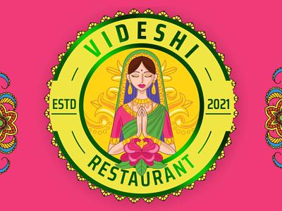 Logo Design for Videshi Restaurant, Indian and Traditional Theme food logo india logo logodesigningindia.in logo designing india logos logo designing logodesign ux vector logo design motion graphics 3d animation ui logo illustration icon graphic design design branding