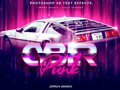 Cyberpunk 80s Text Effects branding animation motion graphics light text pink synthwave graphic design ui illustration design logo text logo light designposter 80s 3d text 3d