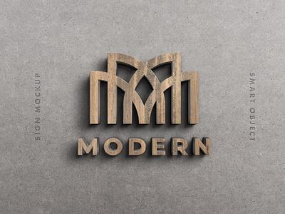 Wooden 3D Sign Mockup text 3d text effect text 3d effect wood motion graphics graphic design animation ui illustration design logo text logo light designposter 80s 3d text 3d
