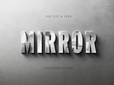 Reflecting Metallic Logo Mockup branding motion graphics graphic design animation mirror reffelection download online text effect text ui illustration design logo text logo light designposter 80s 3d text 3d