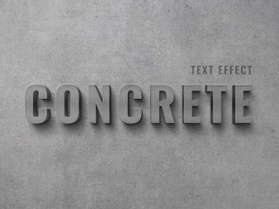 Concrete Wall Text Effect effect text effect text illustration branding motion graphics graphic design animation design logo text logo light designposter 80s 3d text 3d