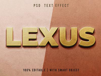 Golden Text Effect Editable synthwave typography logotype ui illustration design logo text logo light designposter 80s 3d text 3d effect text golden