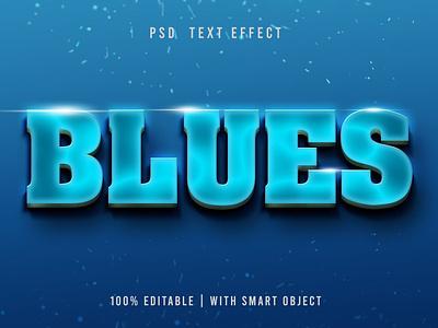 Luminous Blue PSD Text Effect branding motion graphics graphic design animation synthwave typography logotype text effect illustration design logo text logo light designposter 80s 3d text 3d