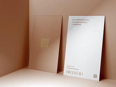 Business Card Mockup branding motion graphics graphic design ui illustration design 80s logo text logo light designposter 3d text 3d card mockup card mockup business business card