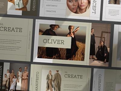 Oliver Proposal freelancer job purpose multipurpose proposal modern minimal colorful template pitch deck google slides keynote powerpoint presentation 3d text 3d illustration design designposter