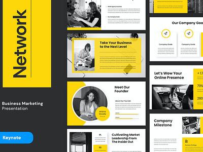 NETWORK - Template modern clean graphic design illustration minimalist lookbook clean business branding development web web development pitch dech minimal simple template google slides keynote presentation powerpoint designposter