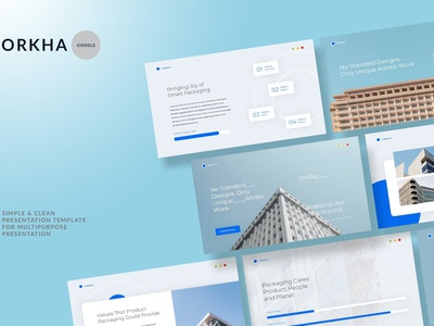 Orkha -Simple & Clean annual report report annual template google presentation deck pitch pitch deck slides google google slides vector ui keynote powerpoint graphic design branding illustration design designposter