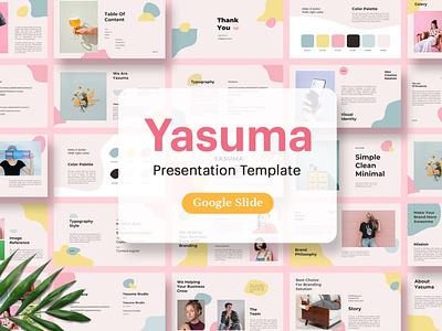 Yasuma - Branding Template lookbook portfolio deck pitch pitch deck slides google slides business purpose multipurpose report annual report vector keynote powerpoint graphic design branding illustration design designposter