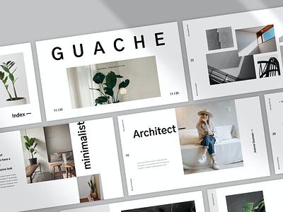 Guache blog purpose web maintace web development multipurpose corporate company portfolio template pitch deck slides presentation vector keynote powerpoint graphic design branding illustration design designposter